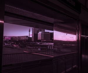 buildings, cyberpunk, and glow image