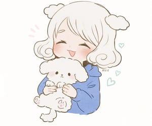anime girl, doggy, and inu image