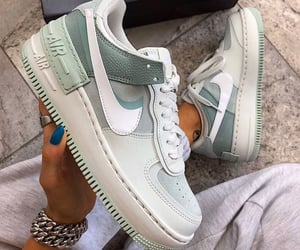 FORCES, nike shoes, and green image