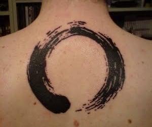 tattoo, circle, and enso image