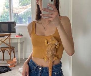 crop top, mirror selfie, and ig model image