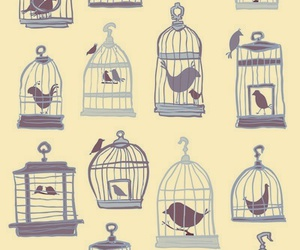 bird, art, and cage image