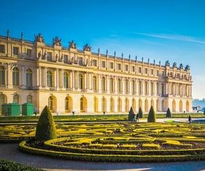 chateau de versailles, palace of versailles, and sun image
