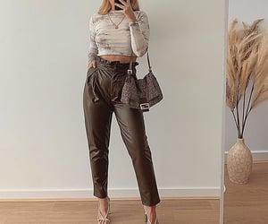 long sleeve, heels white, and mirror selfie image