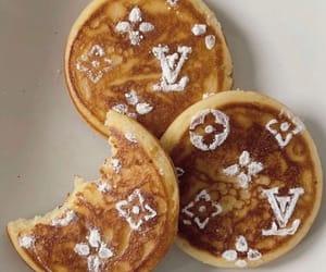 food, pancakes, and Louis Vuitton image