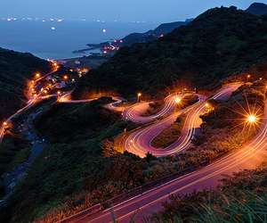 lights, photography, and road image