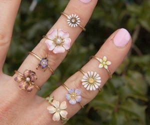 flower, jewelry, and rings image