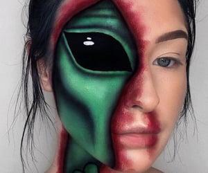 alien, Halloween, and makeup image