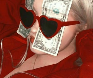 red, aesthetic, and money image