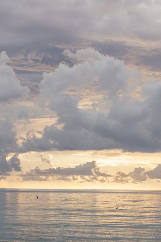 sky, sea, and water image