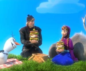 disney, picnic, and snowman image