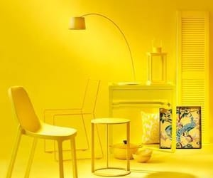 yellow, room, and aesthetic image