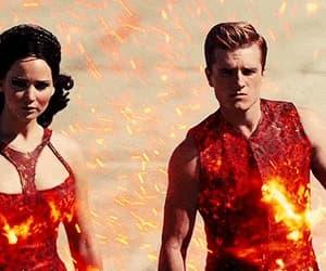 fire, Jennifer Lawrence, and katniss everdeen image
