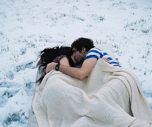 couple, love, and snow image