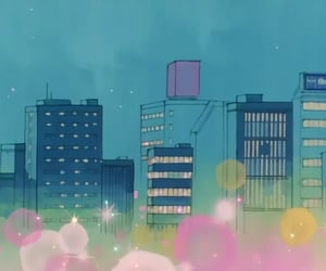 90s, anime, and city image