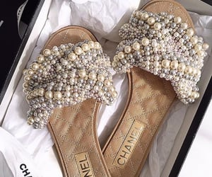 chanel, fashion, and pearls image