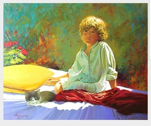 art, child, and colorful image