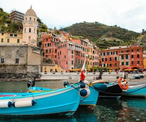 boats, cinque terre, and city image