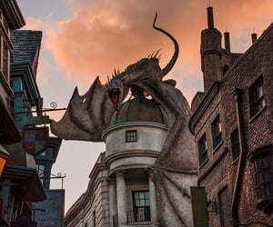 aesthetic, buildings, and harry potter image