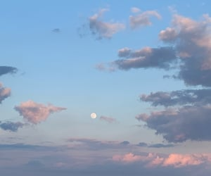 cloudy, magical, and moon image