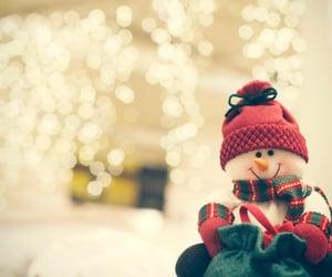 christmas, happy, and snow man image