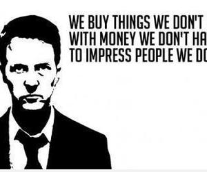 quote, fight club, and money image