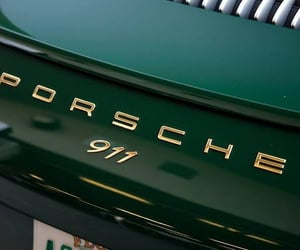 green, car, and porsche image
