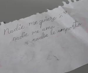sad, nota, and nadie image