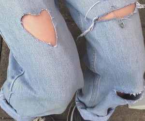 90s, heart, and jeans image