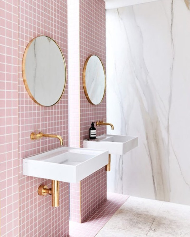 pink, bathroom, and home image