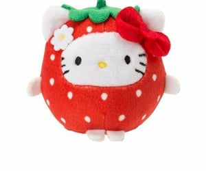 sanrio, strawberry, and hello kitty image