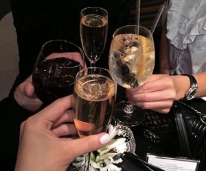 alcohol, cheers, and drinks image