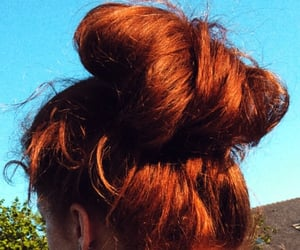 chignon, summer, and beaute image