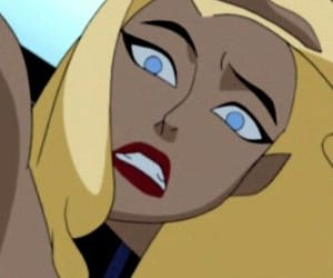 Black Canary, cartoon, and justice league image