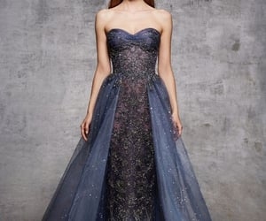 ballgown, blue dress, and gown image