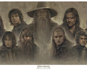 gandalf, Legolas, and LOTR image