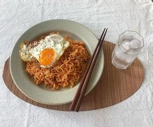 food, korean, and noodles image