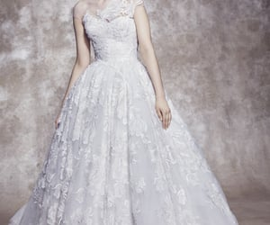 bride, dress, and engaged image