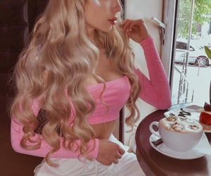 barbie, blonde, and girl image
