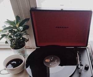 music, coffee, and vintage image