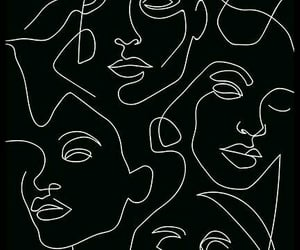 wallpaper, black, and face image