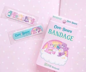 bandaids, carebears, and pink image