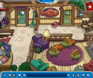 game, room, and club penguin image