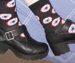 black, goth, and socks image