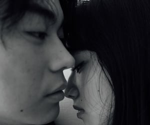 black and white, couple, and japanese image