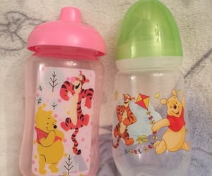 winnie the pooh, sippy cup, and agere image