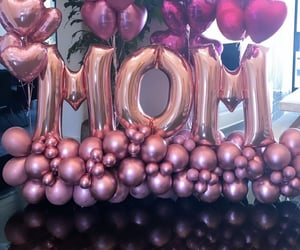 heart balloons, mother's day, and pink balloons image