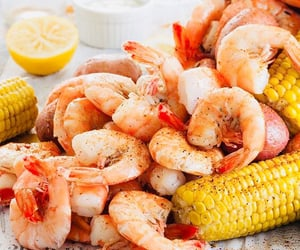 corn, food, and shrimps image