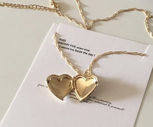 aesthetic, gold, and heart image