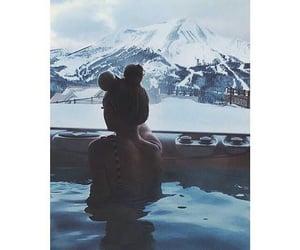girl, pool, and winter image